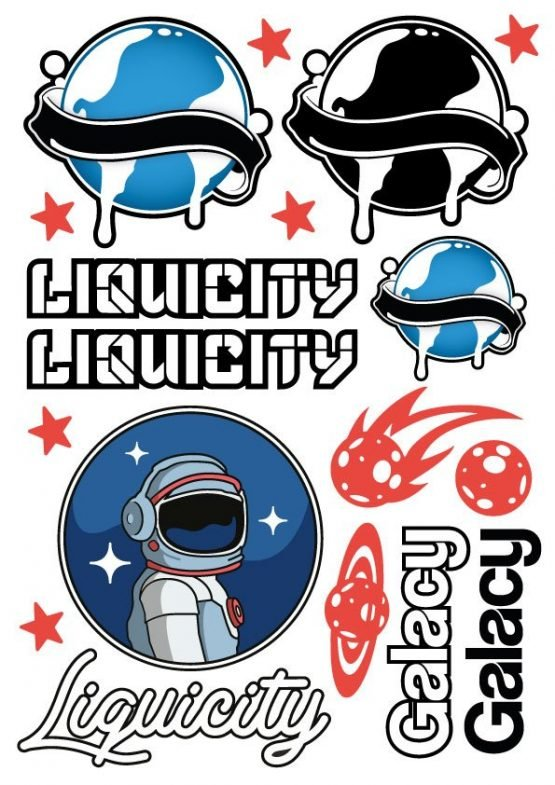 Liquicity Galaxy of Dreams Stickersheet